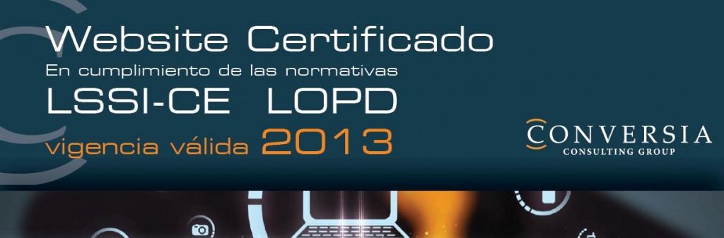 SelloWebsiteCertificado_LSSILOPD_2013