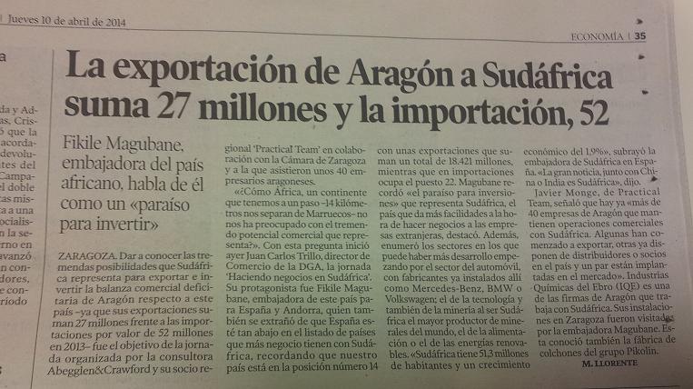 Noticia Heraldo de Aragón