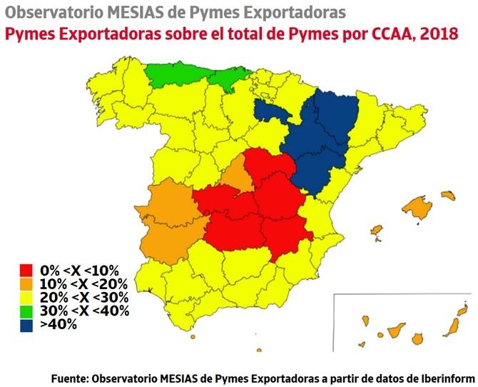 Mapa exportación España